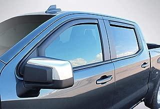 Wade 4-Piece Black Matte in-Channel Wind Deflectors Vent Visors for 2019 Chevrolet/Chevy Silverado 1500 Crew Cab / 2019 GMC Sierra 1500 Crew Cab