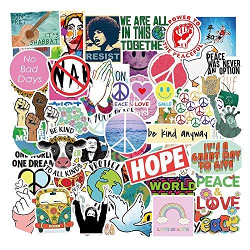50 stks Liefde En Vrede Graffiti Stickers Wereldvrede Voor Auto Styling Bike Telefoon Laptop Reizen Bagage Diy Speelgoed Stickers Sticker