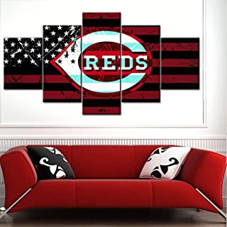 American Flag Decor The Cincinnati Reds Logo Posters and Prints on Canvas Paintings Major..