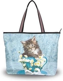 My Daily Damen-Schultertasche, Motiv: Maine Coon, Kätzchen, Katze, Handtasche