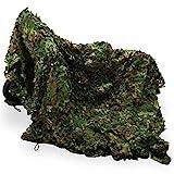 Ausla - Red de camuflaje verde, 3 x 5 m, para caza, protección solar, camuflaje