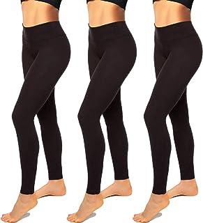 High Waisted Leggings for Women-Womens Black Seamless...