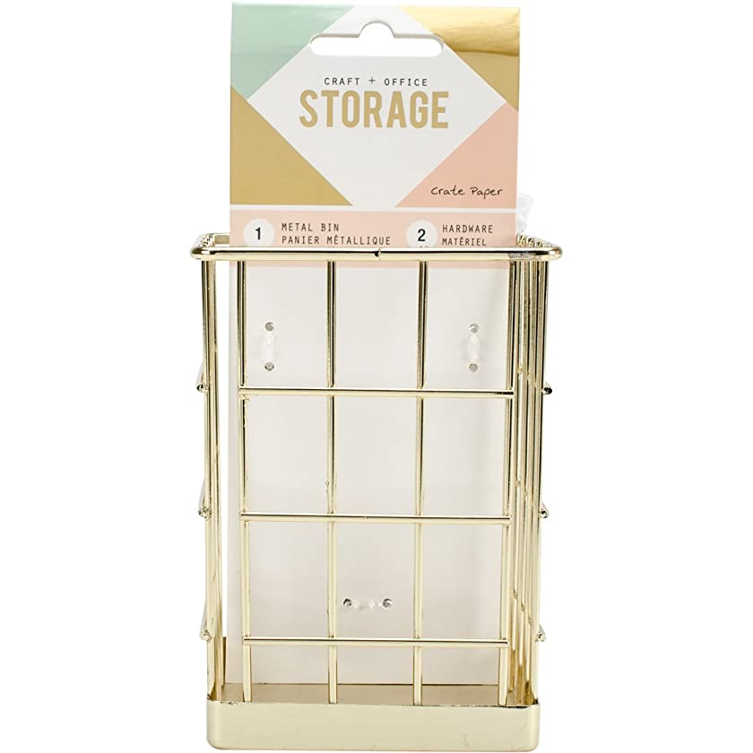 American Crafts Crate Paper Wire System Storage Small Bin