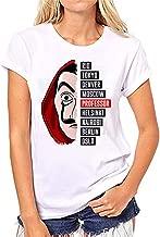 Women's House of Paper TV Series Professor Letter Print Short Sleeve Cos T Shirt