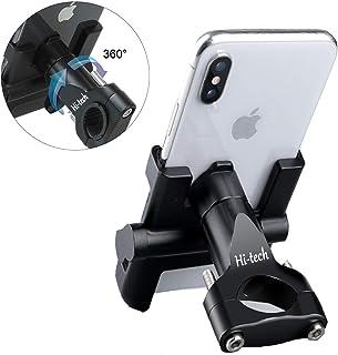 Soporte Móvil Teléfono Moto Bici, Bicicleta, Aleación de Aluminio, GPS Ajustable, Manillar para teléfono móvil, Estera de Silicona para iPhone/Samsung/Huawei con 360 Grados de rotación