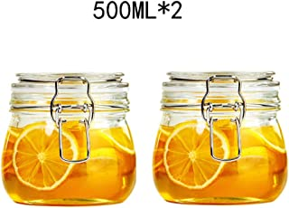 Sealed jar   Mini Clip Top Glass Jars   Storage jar   Assorted Collection of Airtight Vintage Dry Food Containers   500ML(0.5L) (Size : 500ML2)