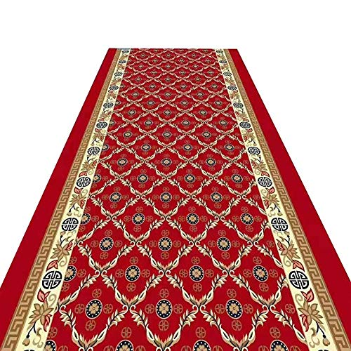 Trampolines Hallway Runner Rug Front Door Mat Non Slip Carpet For Kitchen Foyer Corridor Red Foldable Trampoline for Adult (Color : A, Size : 0.8X5M)