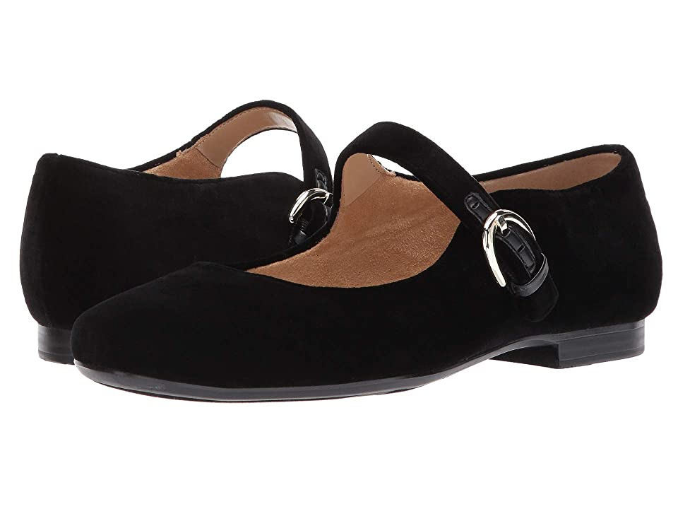 Retro Vintage Flats and Low Heel Shoes Naturalizer Erica Black Velvet Womens  Shoes $89.00 AT vintagedancer.com