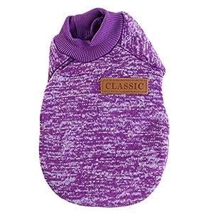 Urijk Pull pour Chien Vêtements pour Animaux d'hiver vêtements pour Chiens Chats Manteau pour Chiens Veste Chaude et Confortable pour Chiens (XS-2XL)