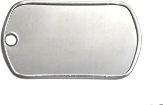 25 Shiny Stainless Steel Military spec Dog Tags - BLANK