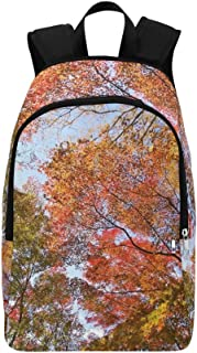 AIKENING Autumn Autumnal Leaves Colorful Woods Forest Casual Daypack Travel Bag College School Backpack Mens Women