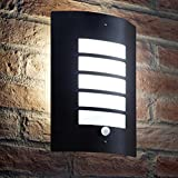Auraglow Stainless Steel Energy Saving Motion Activated PIR Sensor Outdoor Security Wall Light