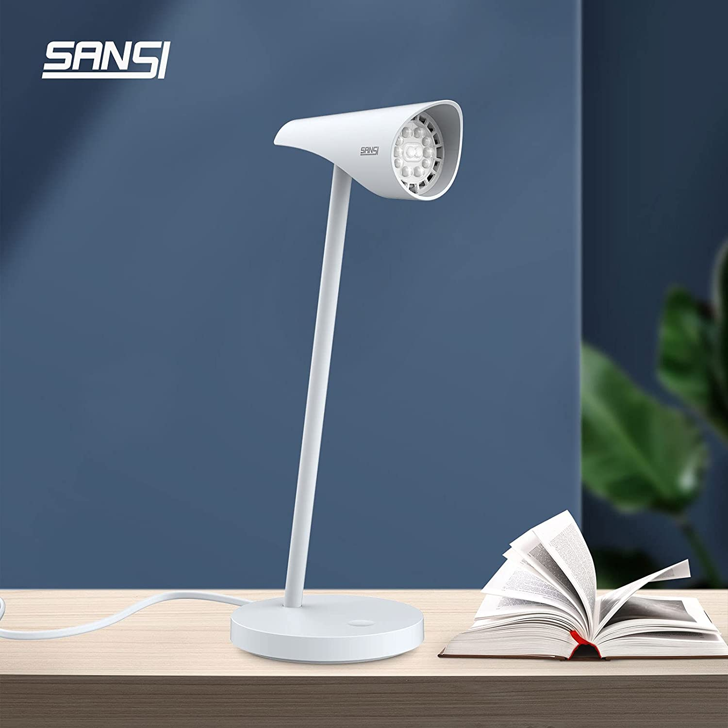 Max 59% OFF SANSI LED Desk Lamp with COC Eye-Caring Superior Lam Table 6W Technology
