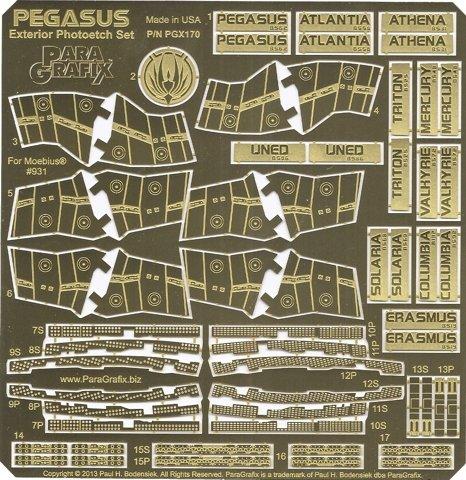Paragrafix PGX170 - Juego de fotograbado exterior de Pegasus