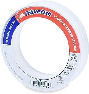 Triple Fish 40 lb Test Fluorocarbon Leader Fishing Line