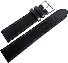 Fluco Horween Shell Cordovan 20mm Black Leather Watch Strap