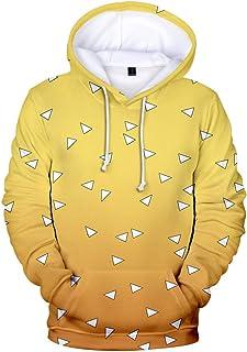 Men Unisex Hoodie Pullover Sweatshirts Demon Slayer Cosplay Costume Casual Pullover HoodiewithKangaroo Pocket