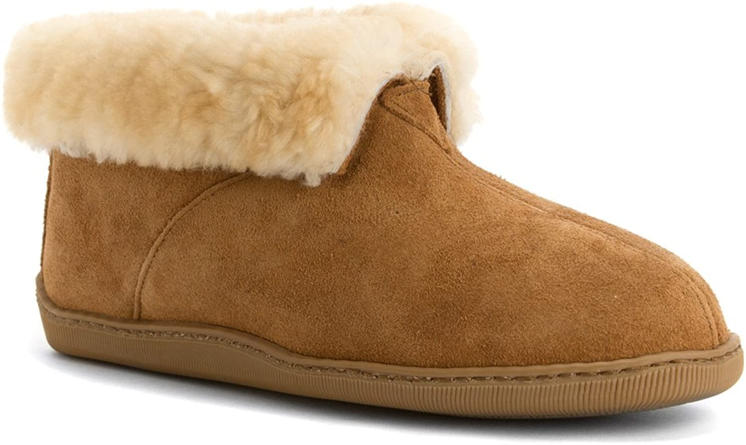 Minnetonka Men's Sheepskin Ankle Boot
