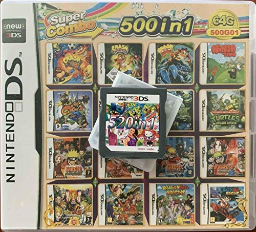 500 IN 1 Video Game card Cartridge Console For Nintendo NDS DS NDSL NDSi 2DS 3DS