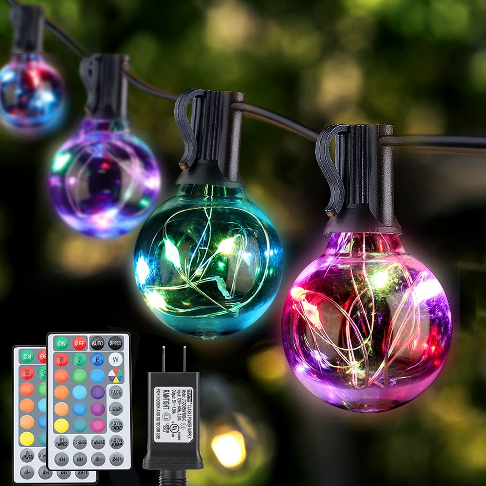 G40 Outdoor Patio String Lights Dealing full price reduction Water Max 58% OFF LED