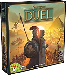 Similar style of play as the award winning original, 7 wonders Designed specifically for 2 player, head to head battles Build a civilization that will crush your competition and flourish for centuries