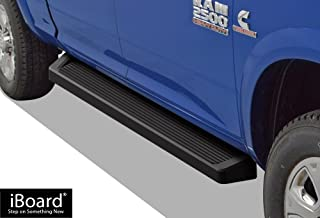 APS iBoard Running Boards (Nerf Bars Side Steps Bar) Compatible with 2009-2018 Dodge Ram 1500 Crew Cab Pickup 4-Door & 2010-2019 Ram 2500 3500 (Exclude Chassis Cab Diesel models) (Black Running Board)