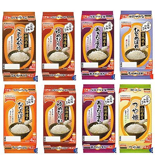 テーブルマーク 全国ご当地 銘柄米ごはん 24食セット ひとめぼれ こしひかり つや姫 あきたこまち ななつぼし ゆめぴりか
