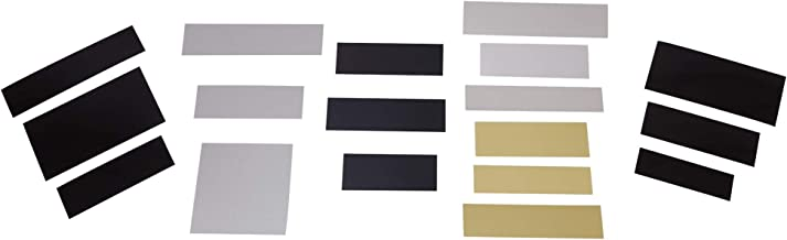 Laser Engraving Plate Assortment 18 Blank Variety Sample Set, Six Types, 3 Colors