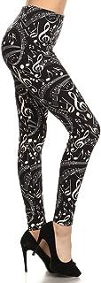 Leggings Depot Women's Ultra Soft Printed Fashion Leggings BAT1