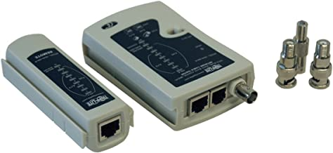 Tripp Lite Network Cable Continuity Tester for Cat5/Cat6, Phone and Coax Cable Assemblies (N044-000-R)
