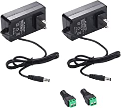 12V 2A Power Supply AC Adapter, AC 100-240V to DC 12 Volt Transformers, 2.1mm X 5.5mm Wall Plug (12 Volt - 2amp - 2pack)