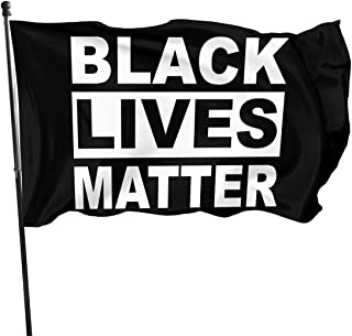 N3XISM_STUDIO Black Lives Matter Flag 3'X 5' - أعلام توقف العنف - لافتة ديكور خارجية