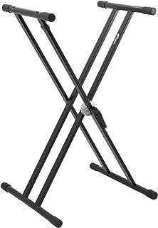 Tiger KYS14-BK - Soporte para teclado (patas dobles), color negro