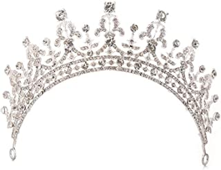LiChaoWen Corona da Sposa Diadema di Cristallo for Le Donne Corona Spettacolo Principessa Fascia Accessori Partecipa al Co...