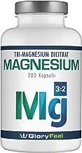 GloryFeel® Magnesium Hochdosiert Kapseln - Vergleichssieger 2019* - 2400mg Premium Magnesiumcitrat (360mg elementares Magnesium) Tagesdosis - 200 Kapseln Laborgeprüfte Hergestellung in Deutschland