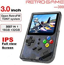 2019 Upgraded Opening Linux Tony System Handheld Game Console , Retro Game Console with 32G TF Card Built in 3007 Classic Games, Portable Video Game Console of 3 Inch Pempered Glass Screen (Black)