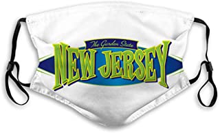 DISGOWONG Washable Reusable Mouth Covers New Jersey The Garden State Sports Shield