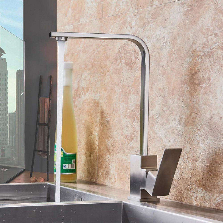 Gorheh Chrom Küchenarmatur Deck Spüle Wasserhahn Hohe Bogen 360 Grad Drehwirbel Kalt Heimischer Wasserhahn