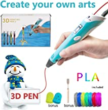 3D Printer Pen with PLA Filament Refills Non Clogging and High Performance 3D Pen A Safe Standby Feature Perfect Gift for Kids and Adults Alike