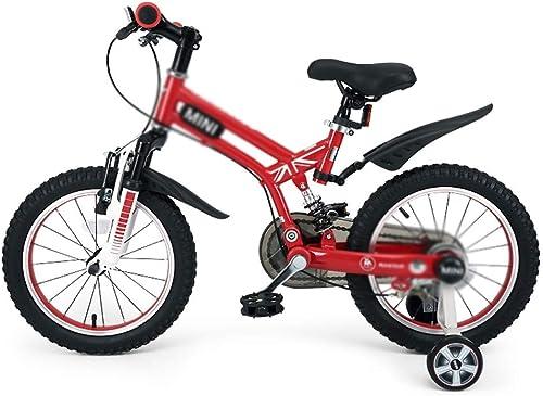 Kinderfürr r fürrad Im Freien Studentenfürrad Jungenmädchenfürrad Auto Im Freien Kinderlernauto, Rahmen Aus Kohlenstoffstahl (Farbe   rot, Größe   16inches)