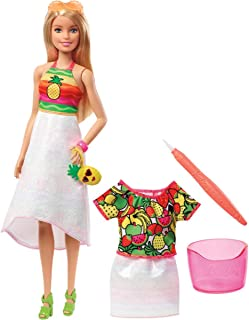 ​Barbie Crayola Rainbow Fruit Surprise Pineapple-Scented Blonde Doll and Fashions, Creative Art Toy, Gift for 5 Year Olds and Up