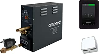 Amerec AX 4.5 KW Steam Bath Generator with Elite Touch Screen Control - Steam Head and Automatic Drain Kit (Polished Chrome Trim)