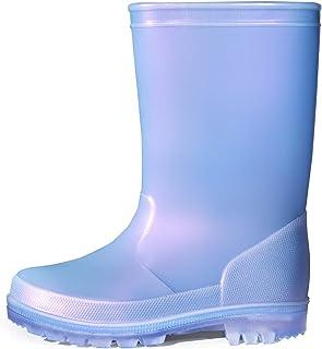 K KomForme Toddler Rain Boots Girls Shimmer Rain Boots for Kids