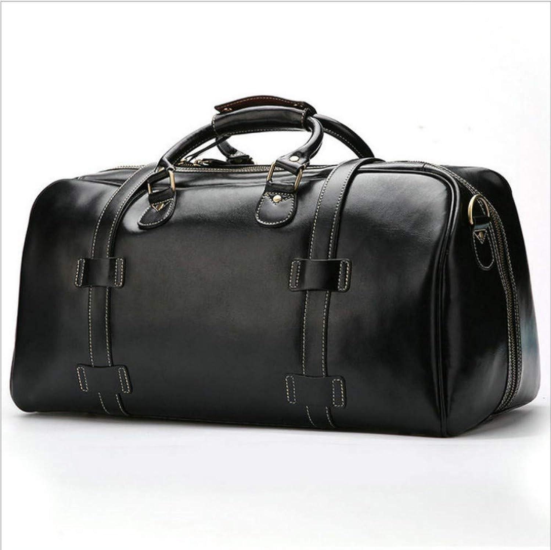 HPCAGLL 1 Business-Handtaschen Herren Leder Reisetaschen Leder Gepcktaschen Groe Kapazitt Eine Schulter Kurze Reise