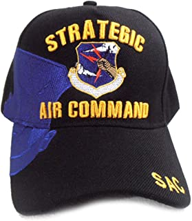US Air Force Hat Strategic Air Command SAC Blue Adjustable Cap