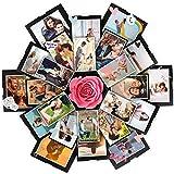 WangsCanis Scatola per Regalo a Sorpresa Esplosione Album Fotografico Creativo Fai da te per Natale Compleanno San Valentin Anniversario (Scatola con 6 lati (42cm×42cm), Taglia unica)