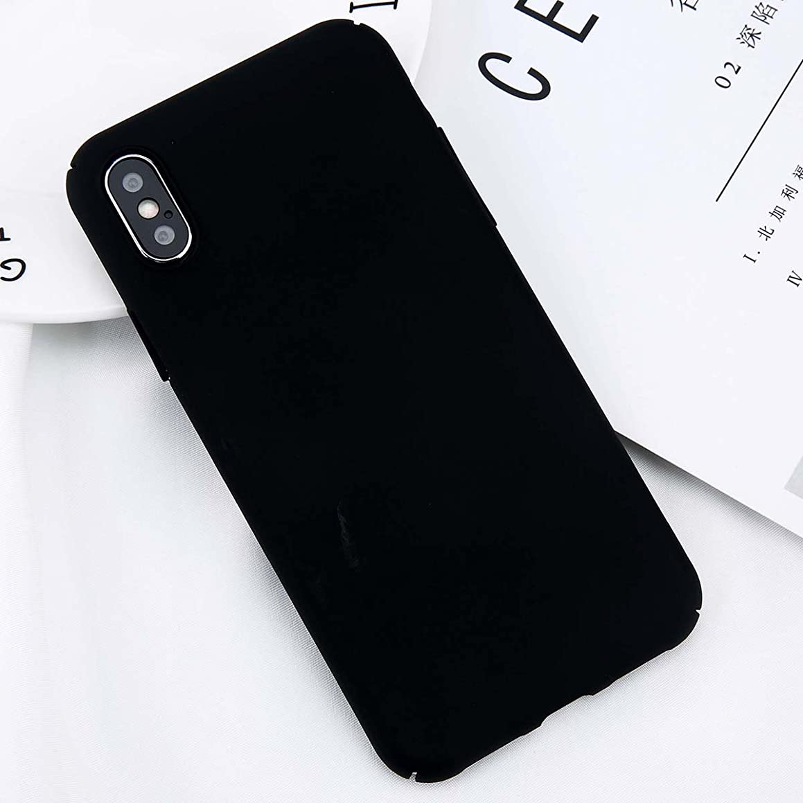 Fitted Cases - For Iphone X Xs Max Xr 8 7 Simple Plain Phone Case Slim Frosted Hard Pc Back Cover For Iphone 8 7 6 6s Plus 5 5s Cases - For Iphone Xs Black - Amplifier Car Tablet Mini Small