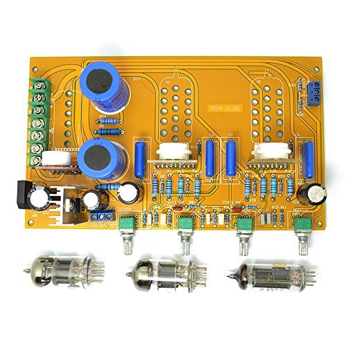 Great Features Of Pre Amplifier Board 6n1(6h23 6dj8 6922) 6z4 Tube Preamp Tone Ar with Volume Bass T...