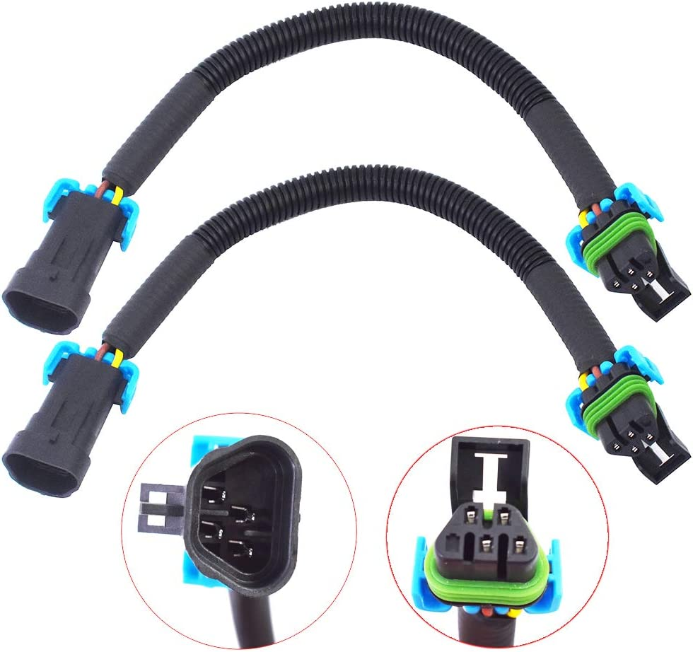 Our shop OFFers the best service labwork 2Pcs 12inch Oxygen O2 Sensor Dedication Extension Header Harness fo