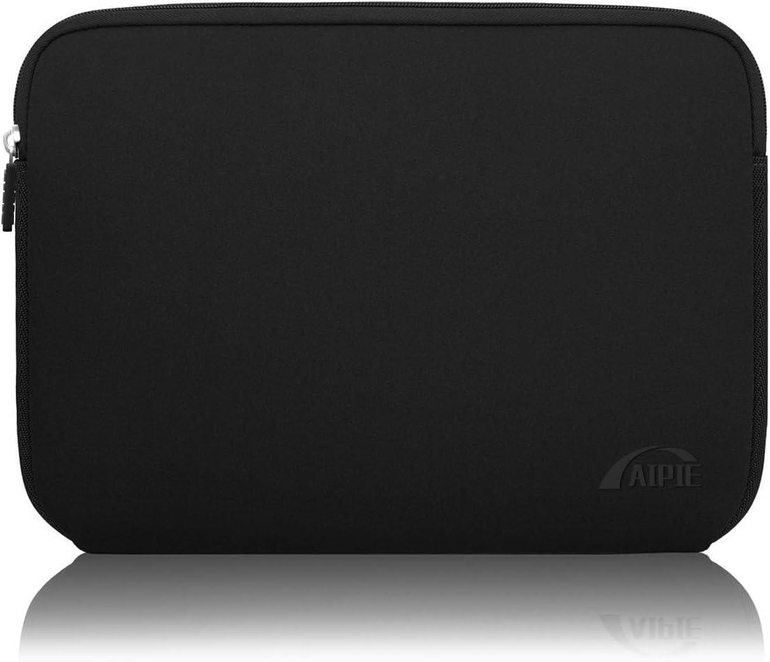 AIPIE Funda Portátil 15 15,6 Pulgadas Netbooks Caso Anti-rasguños Antigolpes Funda per Laptop Compatible MacBook, Acer, ASUS, DELL, HP, Lenovo Ordenadores Maletín de Bolsa (Negro)